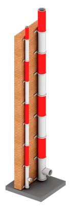 Фасадная дымовая труба