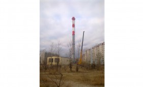 Монтаж дымовой трубы